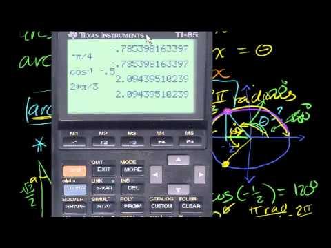 Funzioni Trigonometriche Inverse: Arcocoseno
