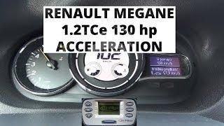 Renault Megane 1.2 TCe 130 KM - acceleration 0-100 km/h