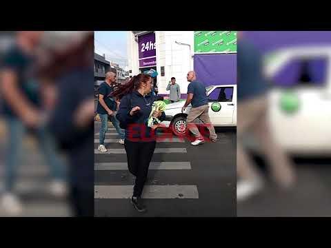 Violenta discusión por problema de tránsito en el centro de Paraná