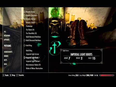 Skyrim Tips - Spells Cost Zero Magicka To Cast and Infinite Enchantment Charge