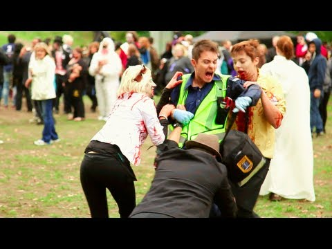 Zombies Attack a Paramedic In Real Life!