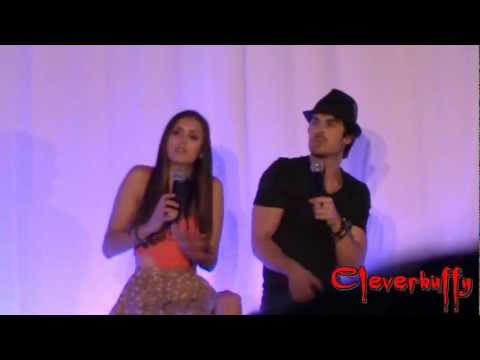 BloodyNightCon 2012 -010- Nina Dobrev and Ian Somerhalder Panel -2/2- Sat 05-05-2012