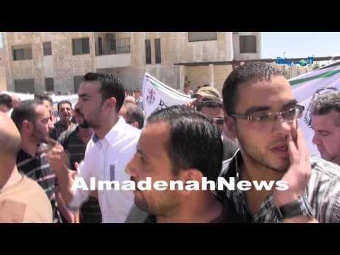 شاهد مشاجرة فتح والشعبية أمام السفارة الإسرائيلية في عمان-الاردن
