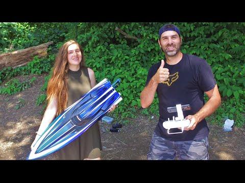 Traxxas Spartan RC Boat & DJI Phantom 3 - Potomac River Fun With My Daughter Lakin - UCMuQ_jJMxVYuqpRFURRCofA
