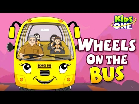 The Wheels On The Bus - Nursery Rhymes - English Animated Rhymes