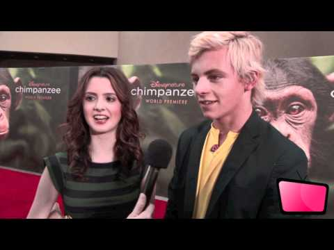 Ross Lynch & Laura Marano Interview At 'Chimpanzee' Premiere [HD]
