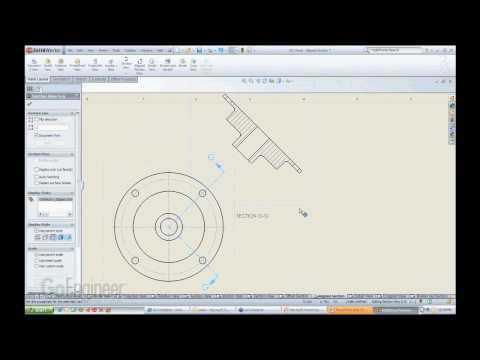 SolidWorks- Aligned Section Views
