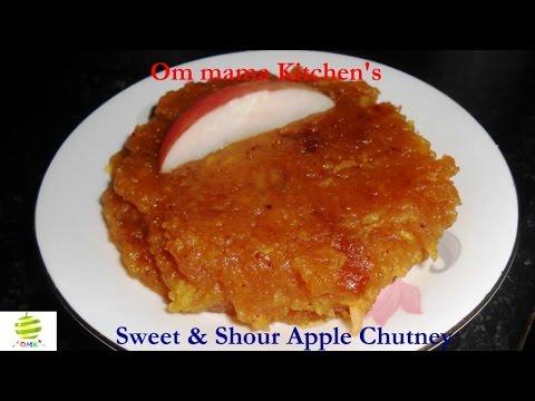 Sweet & Sour Apple chutney (खट्टी मीठी एप्पल चटनी)