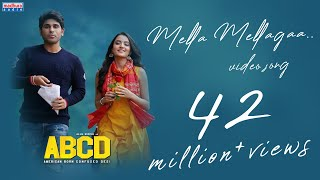 Mella Mellaga Full Video Song  ABCD Movie Songs  Allu Sirish , Rukshar Dhillon ,Sid Sriram,judah s
