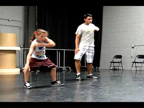 Amazing 10 year old EMILY at Hip Hop Practice 2011 being choreographed by Mikey Trasoras