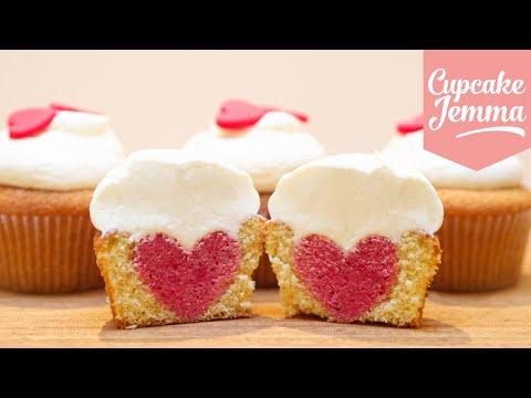 How to Bake a Heart Inside a Cupcake   Cupcake Jemma