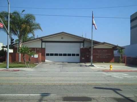 Emergency Station 51 Los Angeles County Fire Department Station 127 And Surrounding