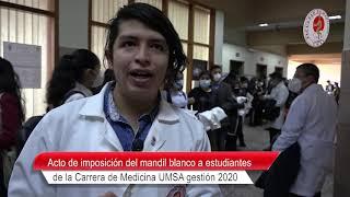 ACTO DE IMPOSICIÓN DEL MANDIL BLANCO A ESTUDIANTES DE LA CARRERA DE MEDICINA GESTIÓN 2020