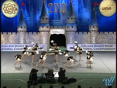 UDA College Nationals 2010: University of Iowa- Div 1A Pom 6th place