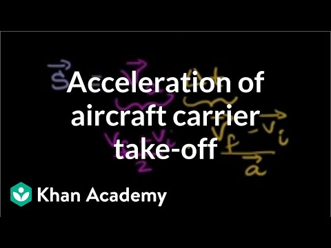 Acceleration of Aircraft Carrier Takeoff