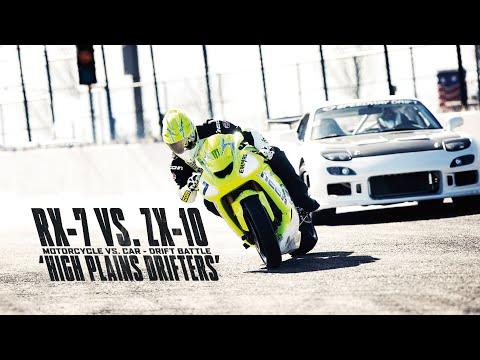 Motorcycle vs. Car Drift Battle