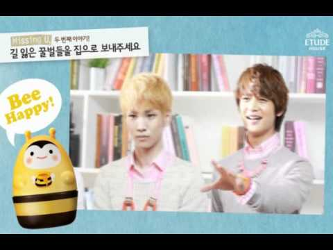 "SHINee ETUDE HOUSE - Promotional clip ""missing You, Bee Happy!"""