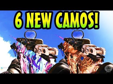 COD Ghosts: All 6 New Camos! Nebula, Hydra, Abstract, Tattoo, Leopard & Skulls (Ghost DLC Packs) - unknownplayer03