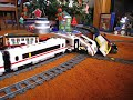 LEGO train crash high speed Eurostar and ICE 3 on 9V double track