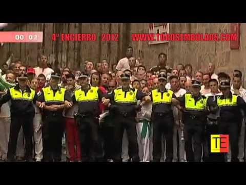 RECOPILACIÓN DE TODOS LOS ENCIERROS DE SAN FERMIN 2012