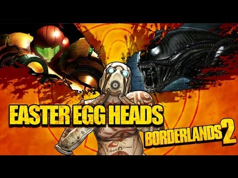 Borderlands 2 Secrets: Easter Egg Heads! (Alien vs Predator) (Metroid Prime) (Metal Gear Solid)