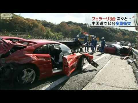 Oito Ferraris Destruídas Em Acidente Inusitado No Japão