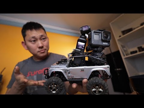 DJI Osmo Pocket & GoPro Hero 7 on a RC car