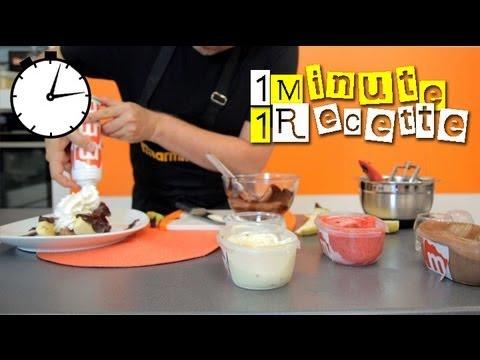 1 Minute 1 Recette : Banana-split
