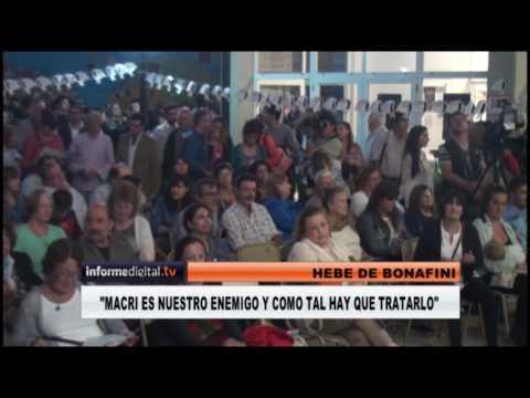 <b>Derechos Humanos. </b>Hebe de Bonafini habló de macrismo y kirchnerismo en Paraná