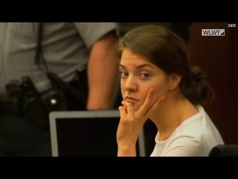 Shayna Hubers reads haunting text during trial