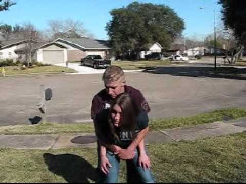 women's self defense rear bear hug escape