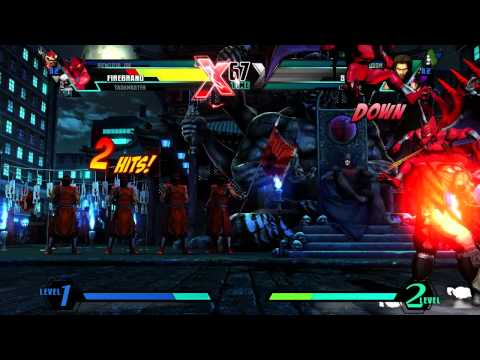 Firebrand vs. Hawkeye - Gameplay - ULTIMATE MARVEL VS. CAPCOM 3