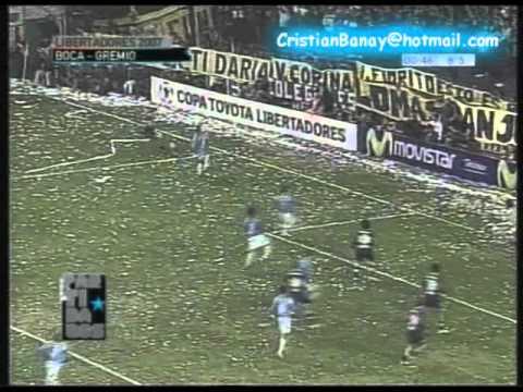 Boca 3 Gremio 0 Copa Libertadores 2007 (Resumen Completo)