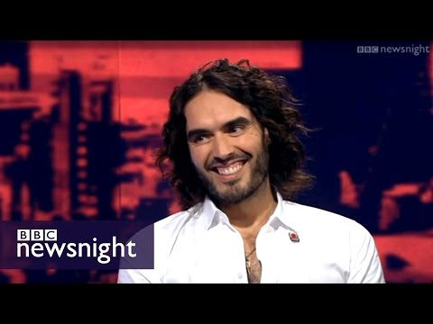 'I don't trust politicians & corporations in this country' Russell Brand - Newsnight