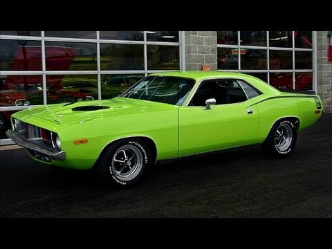1973 Plymouth Cuda 340 Six-Pack Sublime Green Mopar