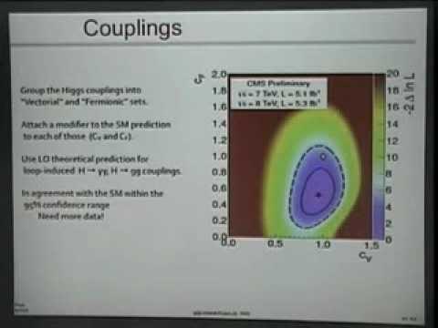 Luigi Rolandi presenta alla comunità scientifica della Normale la scoperta del bosone di Higgs
