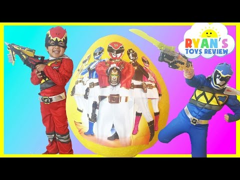 Opening power ranger dino charge kinder egg nickelodeon toys kids