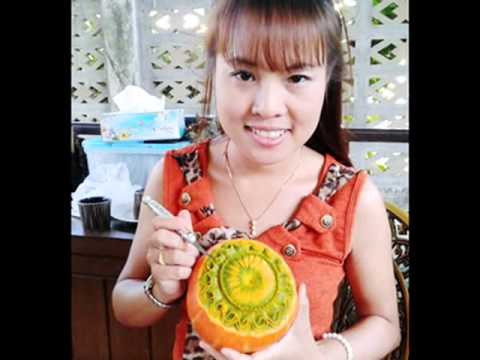 Carving Vegetables an Fruits By Khun Bam Sawitree