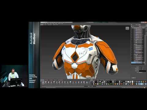 Mudbox Tutorial: Modeling and Painting with Autodesk Mudbox - Part 3