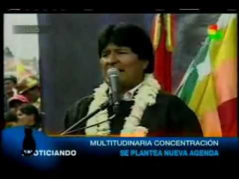 Miles marcharon en favor a Evo y el proceso de cambio en La Paz antes de elecciones judiciales