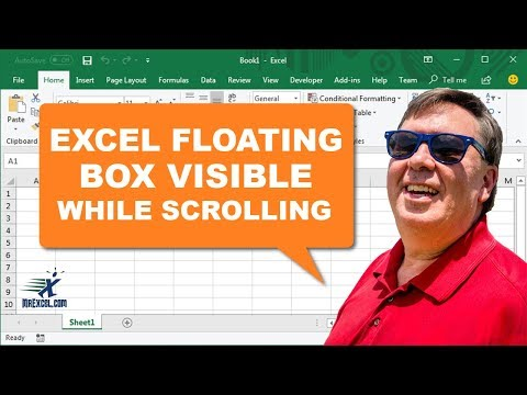"Learn Excel from MrExcel - ""Floating Box Visible While Scrolling"": Podcast #1660"