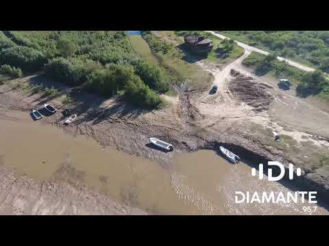 Bajante del río Paraná desde un drone: imágenes del paraje