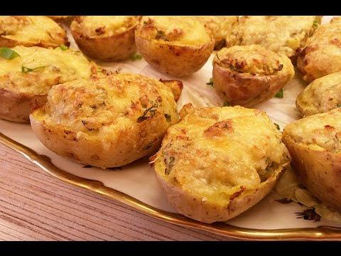 Рецепты фаршированного картофеля с сыром в духовке