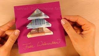 Geldschein Falten Weihnachten 2017 Geldgeschenke Basteln Für