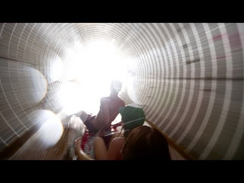 Storm Drain Turned Into Water Slide