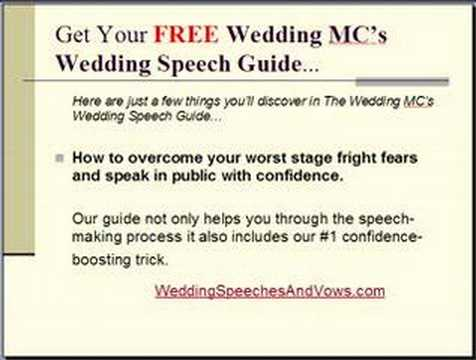 Wedding Welcome Speech Example Mc  ArlenhesterS Blog