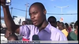 Acidente entre TPM e chapa faz feridos graves em Maputo