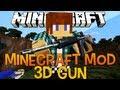Armas 3D - Minecraft Mod 1.5.2 3D GUN