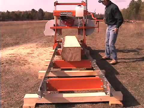 Reliable Lumber Milling on the Norwood LumberLite ML26 Band Portable Sawmill - Bandmill