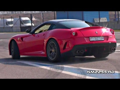 Ferrari 599 GTO Powerslides, Accelerations and Fly Bys!
